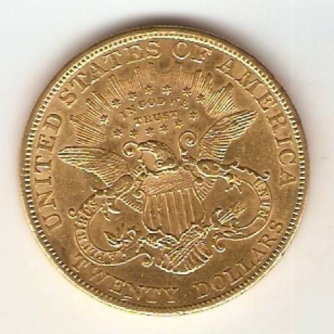 Moeda de Ouro 20 Dollars - Liberty - Numismática Vieira