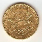 Moeda de Ouro 20 Dollars - Liberty