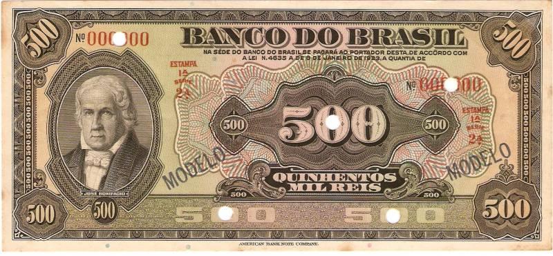 Catálogo Vieira Nº 205 (Modelo) Banco do Brasil - Numismática Vieira