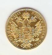 Moeda de Ouro 1 Ducado Austríaco.