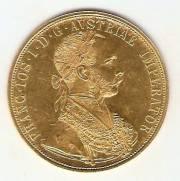 Moeda de Ouro 4 Ducados Austríaco - Ouro 22K - 14,0gr