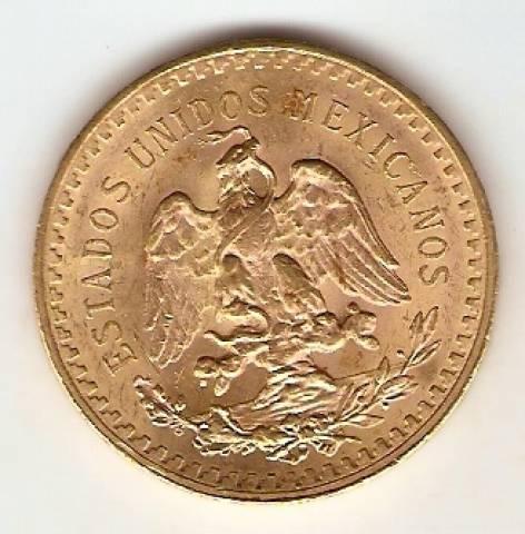 Moeda de Ouro 50 Pesos Mexicano - Ouro 22K - 41,6 gr. - Numismática Vieira