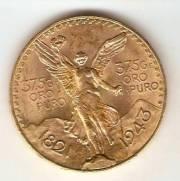 Moeda de Ouro 50 Pesos Mexicano - Ouro 22K - 41,6 gr.
