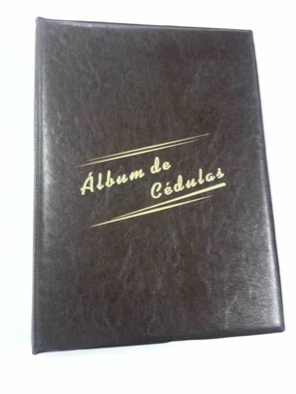 Capa para Álbum Grande de Cédulas com os parafusos.