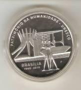 """Moeda \""""PROVA\"""" Catálogo Vieira Nº 612 - 5 Reais (Patrimônio da Humanidade - Brasília - Prova)"""