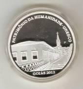 """Moeda """"PROVA"""" Catálogo Vieira Nº 617 - 5 Reais (Patrimônio da Humanidade - Goiás - Prova)"""
