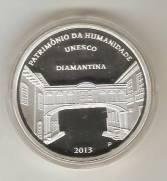 """Moeda \""""PROVA\"""" Catálogo Vieira Nº 618 - 5 Reais (Patrimônio da Humanidade - Diamantina - Prova)"""
