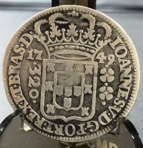 Catálogo Vieira Nº 059 - 320 Réis 1749 - Numismática Vieira