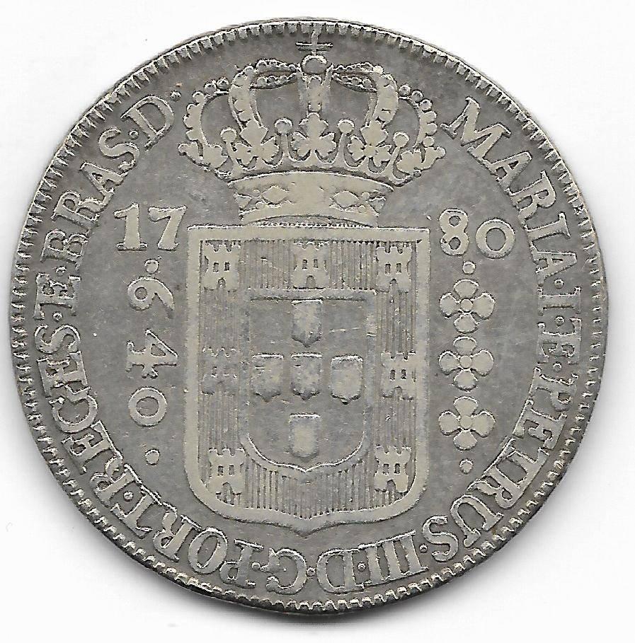 Catálogo Vieira nº 198 - 640 Réis 1780 - Numismática Vieira