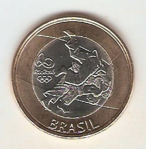 Moeda de Um Real Comemorativa aos Jogos Olímpicos Rio 2016 - Judo - Numismática Vieira