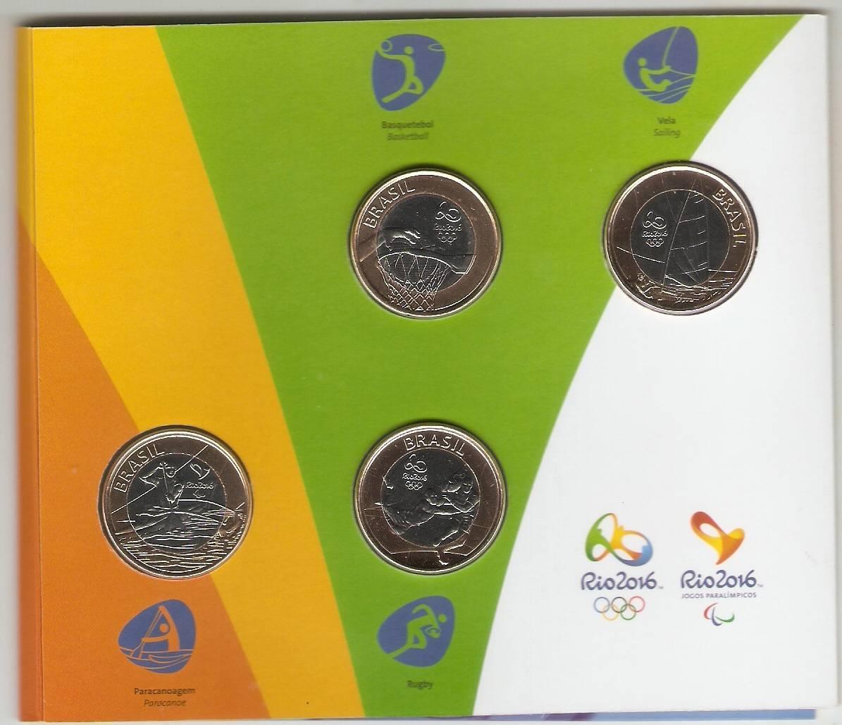 Cartela Com a Segunda Série das Moedas das Olimpíadas e Paraolimpíadas Rio 2016 - Numismática Vieira