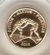 Moeda de Ouro Comemorativa aos Jogos Olímpicos e Paralímpicos de 2016 - Luta Olímpica