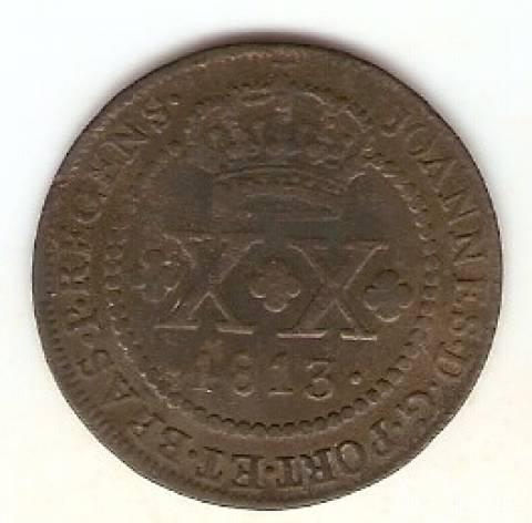 Catálogo Vieira Nº 394 - XX Réis 1813R - Numismática Vieira
