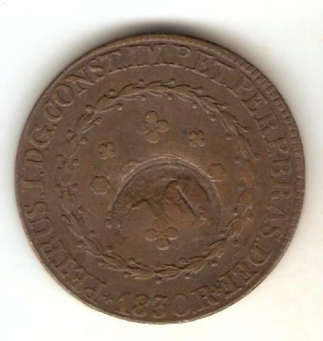 Catálogo Vieira Nº 572 - 80 réis c/c 40 Réis 1830R - Numismática Vieira