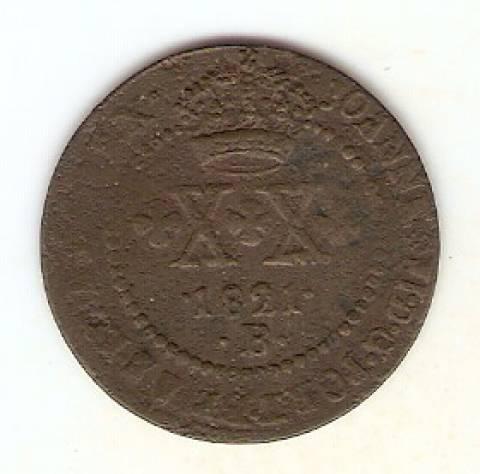 Catálogo Vieira Nº 502 XX Réis 1821B - Numismática Vieira