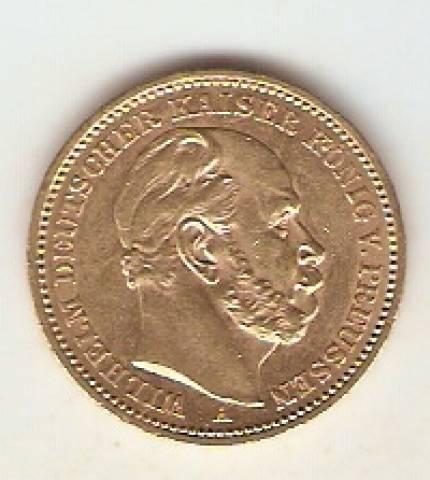 Moeda de Ouro Alemanha Prussia 20 Marcos - 1888 - Numismática Vieira