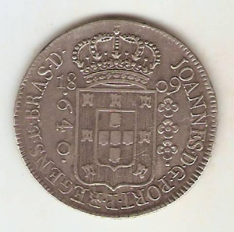 Catálogo Vieira Nº 293 - 640 Réis 1809R - Numismática Vieira