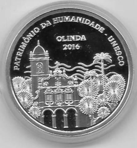 Catálogo Vieira S/Nº  5 Reais Olinda (Patrimônio da Humanidade) - Unesco - Numismática Vieira