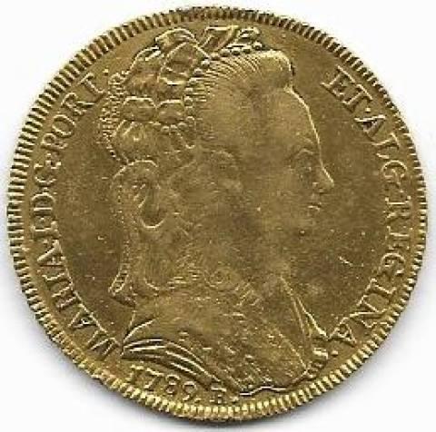Catálogo Vieira Nº 478 - 6.400 réis 1789R - Numismática Vieira