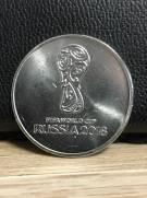 Moeda de Níquel Copa do Mundo Fifa Russia 2018. 1º