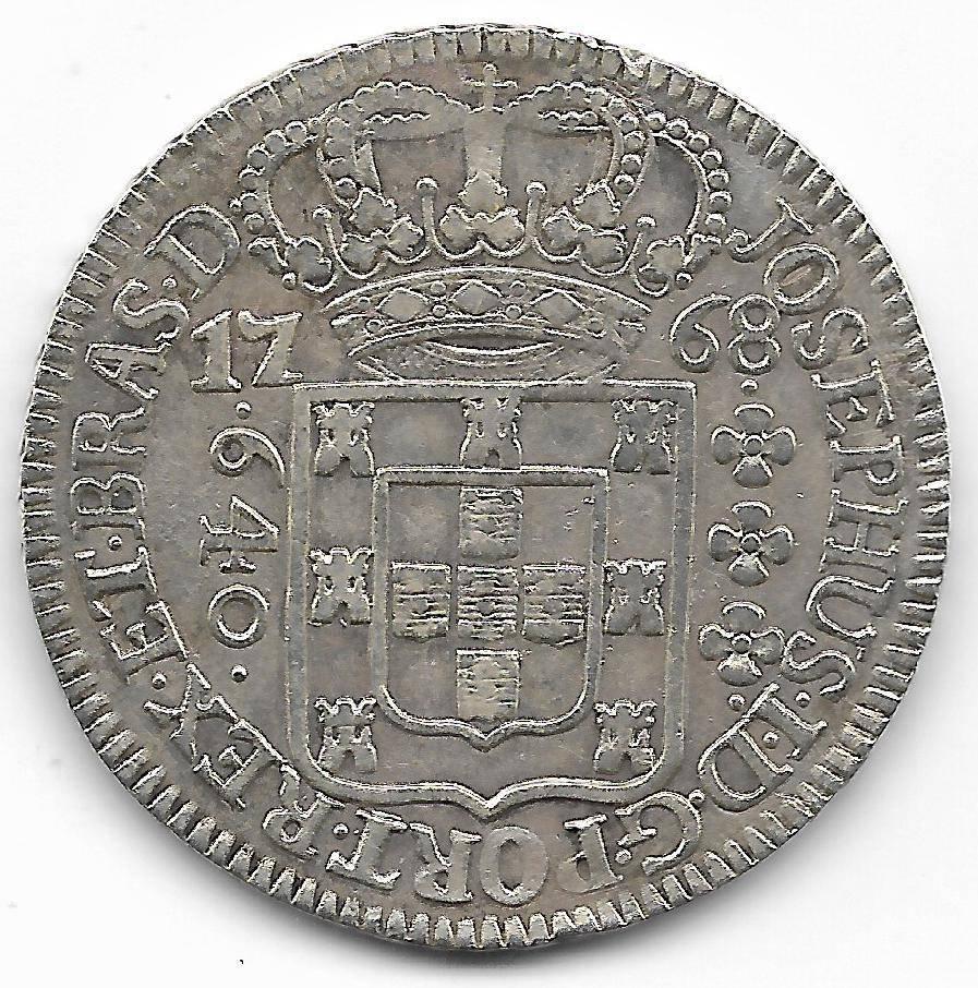 Catálogo Vieira Nº 177 - 640 Réis 1768 - SVBQ - Numismática Vieira