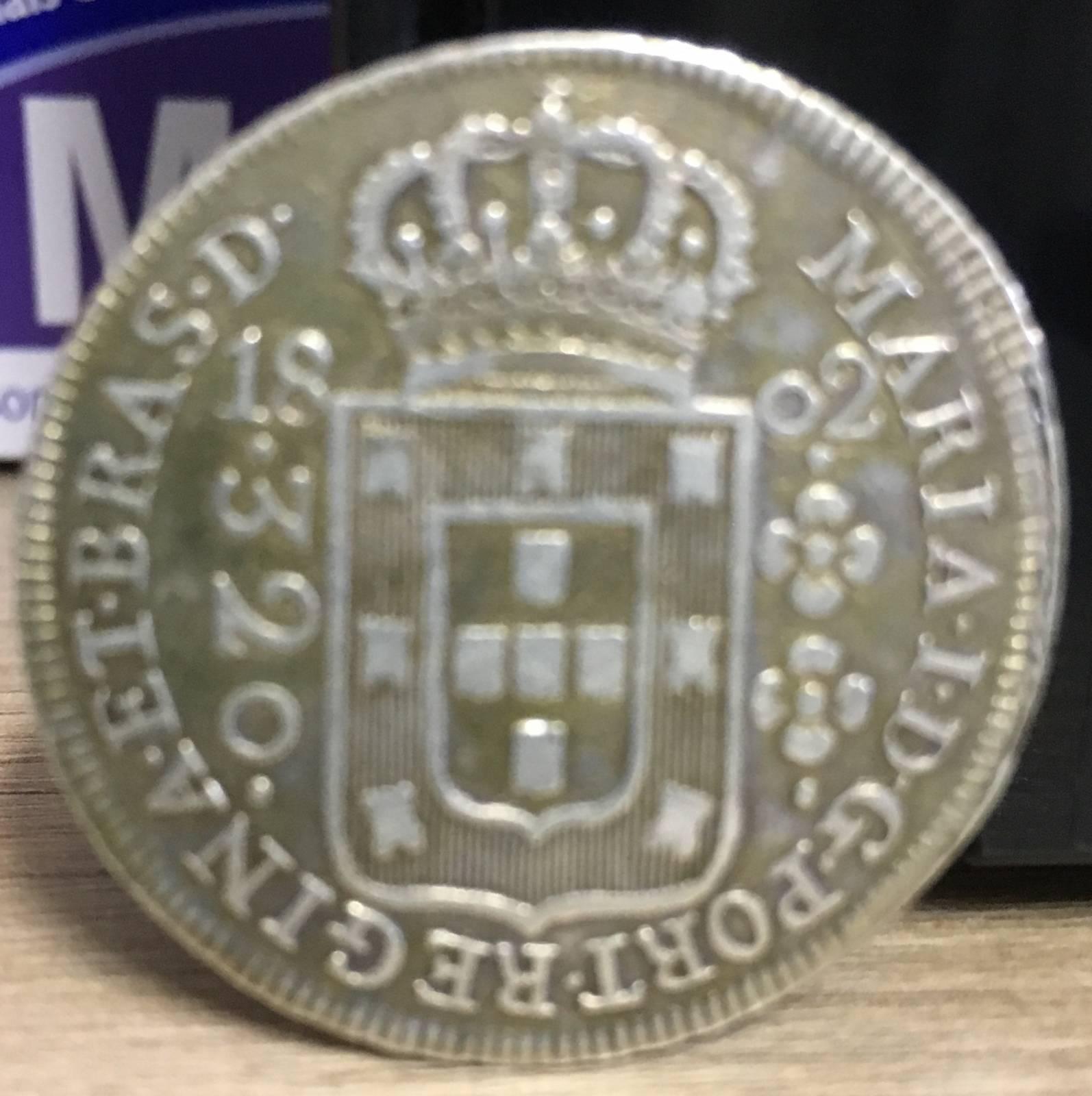 Catálogo Vieira Nº 275 - 320 Réis 1802R - Numismática Vieira
