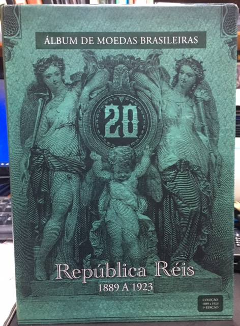 Álbum de Moedas República Réis 1889 a 1923 - Numismática Vieira