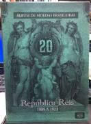 Álbum de Moedas República Réis 1889 a 1923