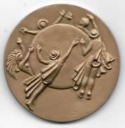 Medalha de Bronze - XVIII Congresso da União Postal Universal.