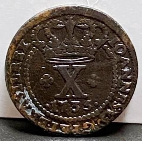 Catálogo Vieira Nº 081 - X Réis 1735 - Numismática Vieira