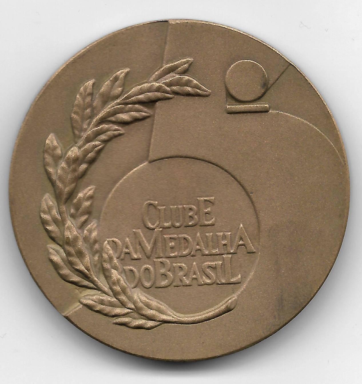 Medalha de Bronze - 5º Ano do Clube da Medalha do Brasil. - Numismática Vieira