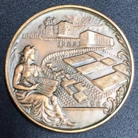 Medalha de Bronze - Inauguração do parque industrial de Santa Cruz. - Numismática Vieira