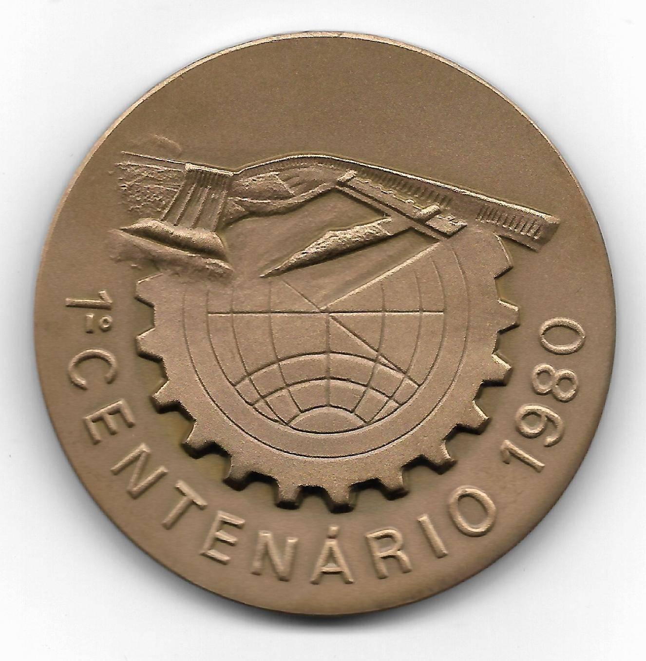 Medalha de Bronze - Centenário Clube de Engenharia - Numismática Vieira
