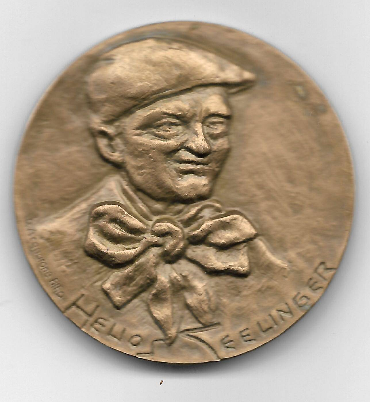 Medalha de Bronze - 100 Anos Helios Seelinger - Numismática Vieira