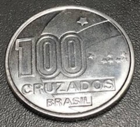 Catálogo Vieira Nº 24 - 100 Cruzados (100 Anos da Abolição Menino) (Reforma Monetária) (Aço) - Numismática Vieira