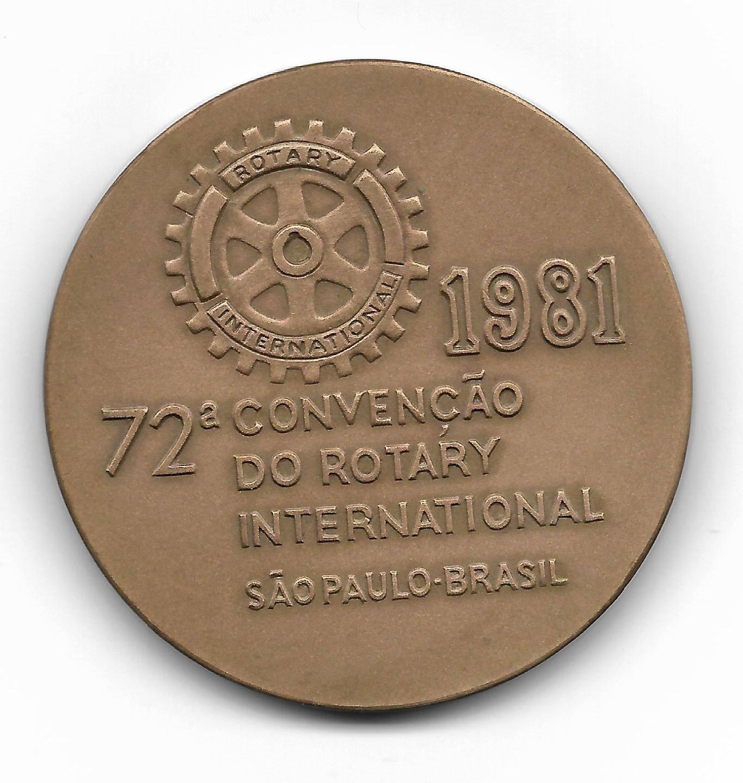 Medalha de Bronze - 72º Convenção do Rotary International - Numismática Vieira