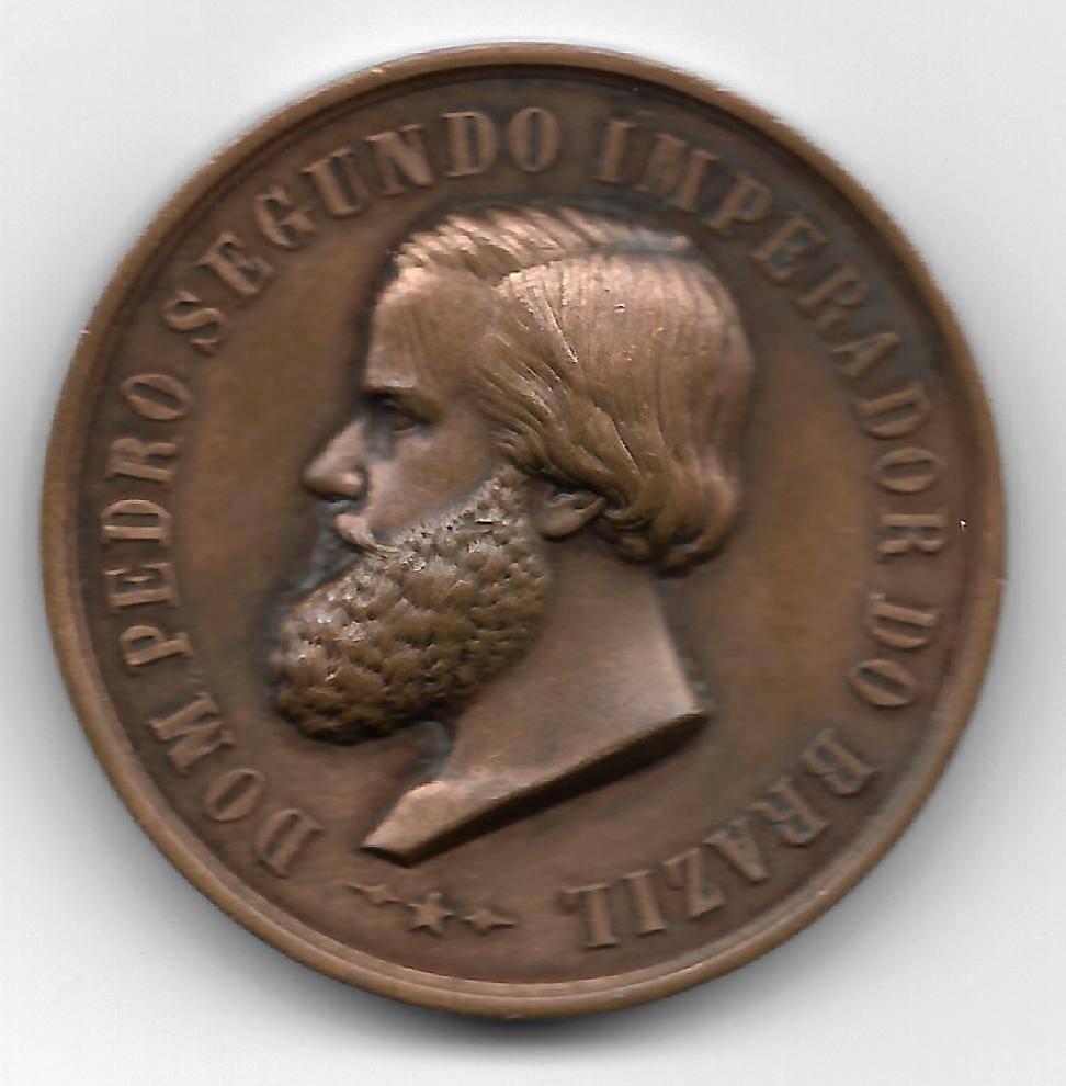 Medalha de Bronze - D.Pedro II Imperador do Brasil - Numismática Vieira