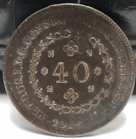 Catálogo Vieira - Nº 577 - 40 Réis 1826R - Numismática Vieira