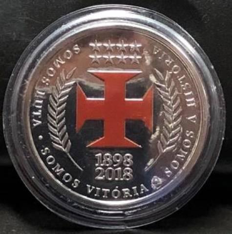 Medalha Comemorativa aos 120 anos Clube de Regatas Vasco da Gama  - Numismática Vieira