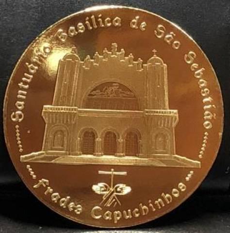 Medalha Homenagem São Sebastião do RJ. - Numismática Vieira