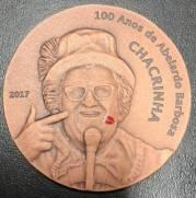 Medalha comemorativa 100 anos Chacrinha | Numismática Vieira