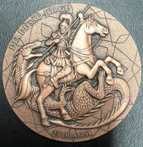 Medalha Comemorativa Homenagem a São Jorge - Numismática Vieira