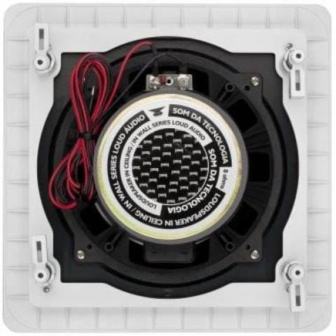 Caixa Acústica de Embutir Marinisada Quadrada SQ6-MR - LOUD - Ilha Suportes