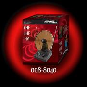Antena Interna Tipo Mini Parabolica VHF UHF FM   CHIP SCE