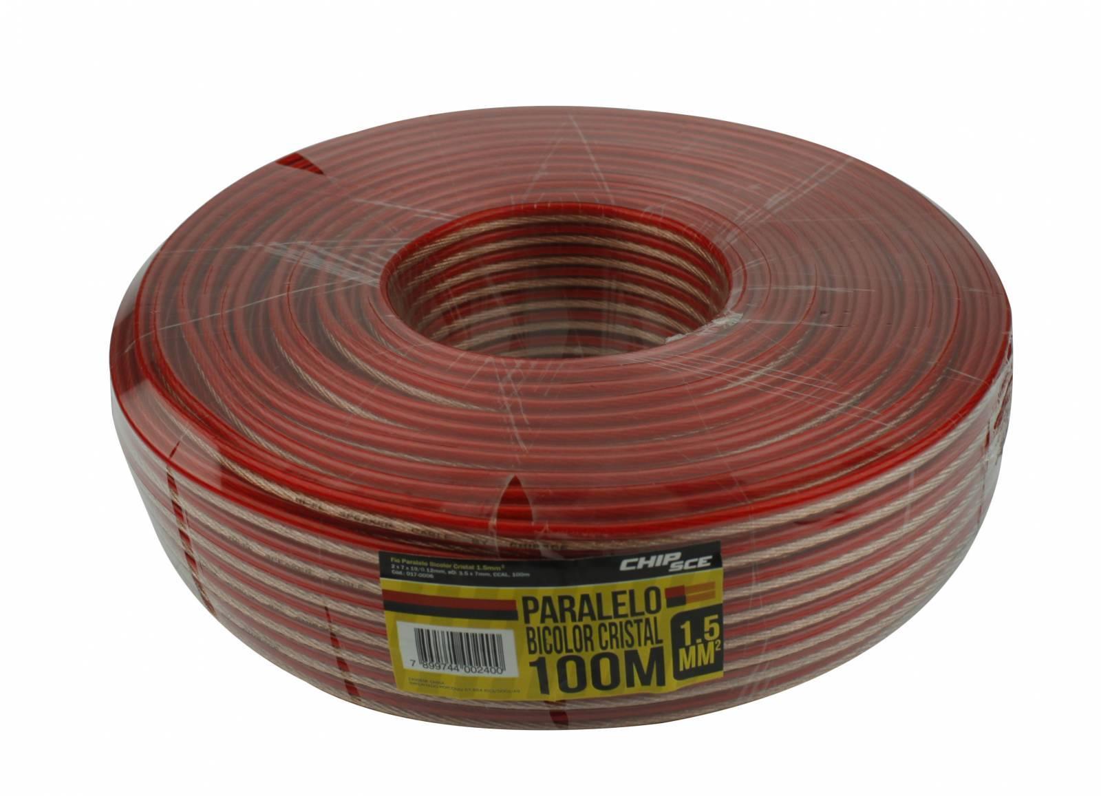 Fio Paralelo bicolor Cristal 2x2,00mm C/ 100mt - CHIP SCE