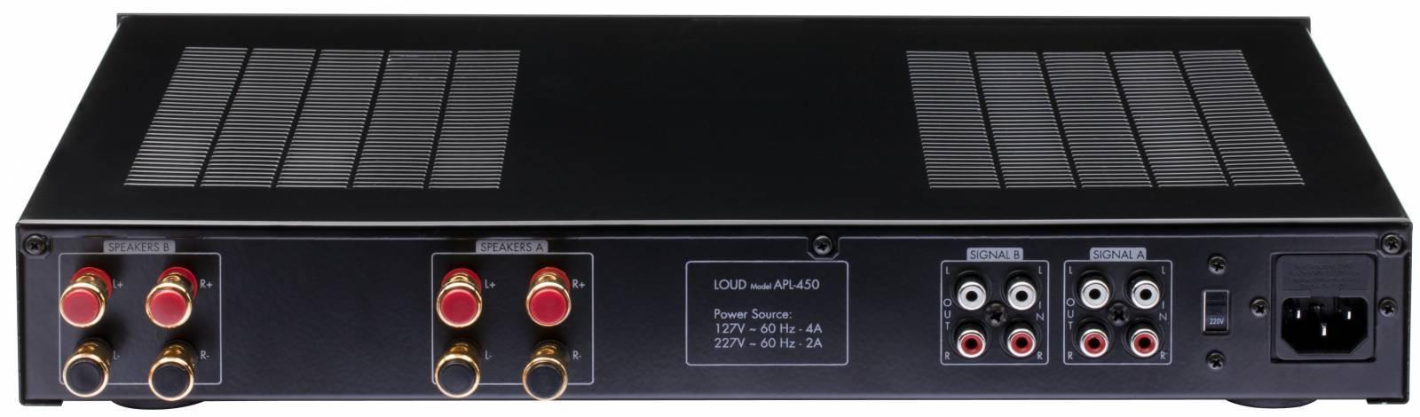 Amplificador Multi-room c/ controle de volume APL-450  LOUD - Ilha Suportes