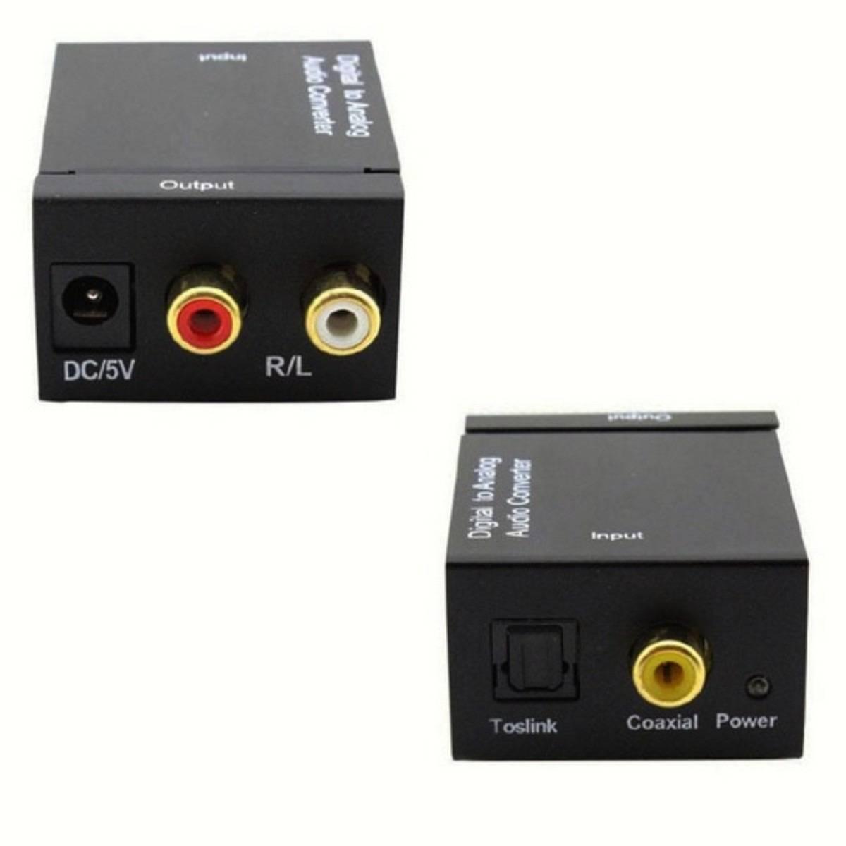 Conversor Óptico Toslink / Coaxial Digital Para Rca