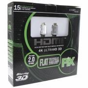 Cabo HDMI 15mt 2.0 Flat ''capa removível''UltraHD 4K - PIX | Ilha Suportes