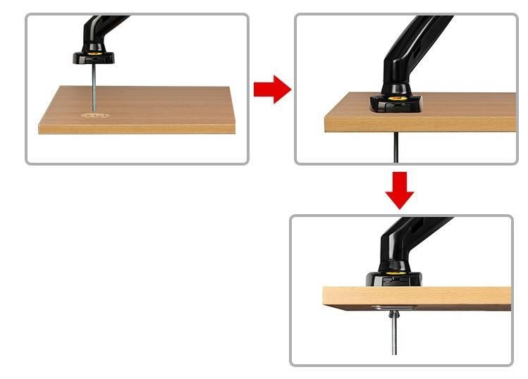 Suporte Articulado de mesa c/ Pistão a Gás (ajuste altura) monitor 17 a 27 F80N - ELG - Ilha Suportes