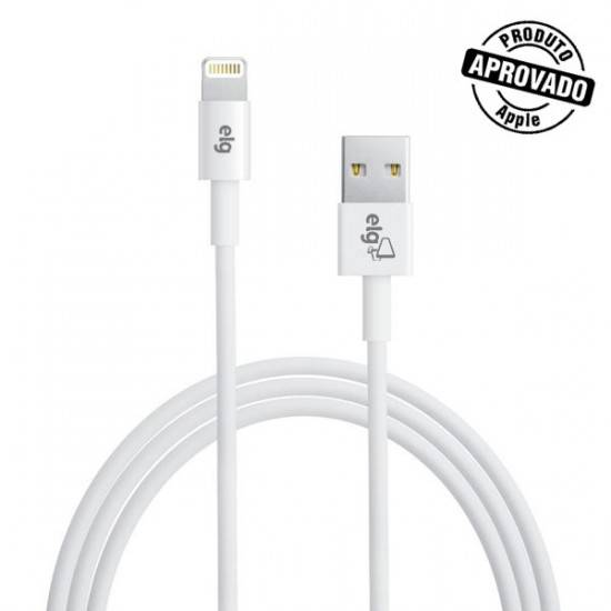 Cabo USB 2.0 1 metro p/ IPHONE 5/6 C810 - ELG - Ilha Suportes